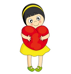 girl heart vector image
