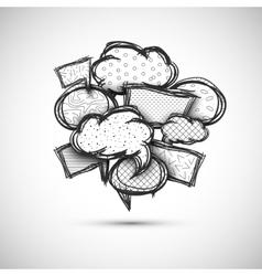 hand drawn bubble speech vector image vector image
