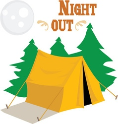 Night Out vector image