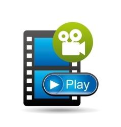 play movie film camera design vector image