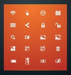 universal glyphs 15 phone symbols 4 vector image vector image