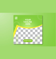 01 social media and banner template green vector