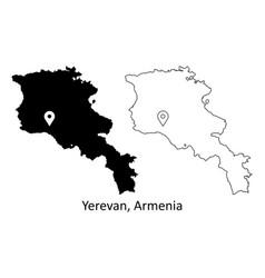 1015 yerevan armenia vector image