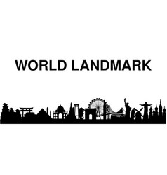 a set a real world landmark vector image