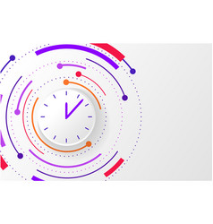 Abstract background with color circle line vector