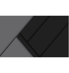 Abstract black grey geometric shadow vector