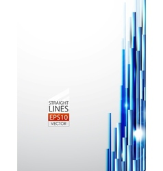 abstract blue lines background vector image