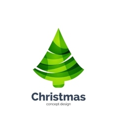 abstract geometric Christmas tree icon vector image