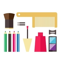 Beauty cosmetic icons vector image