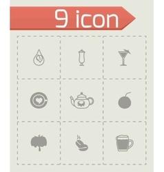 Beverages icon set vector image