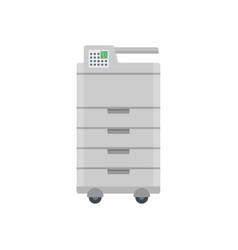 Big office printer icon flat style vector