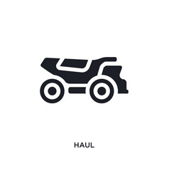 Black haul isolated icon simple element from vector