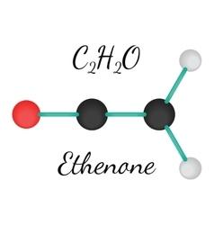 C2H2O ethenone molecule vector image