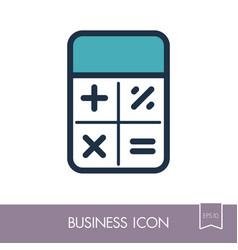Calculator icon finances sign vector
