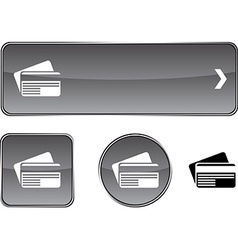 Card button set vector
