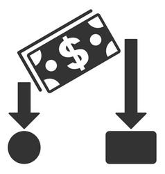Cash flow flat icon vector