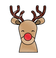 cute christmas reindeer vector image