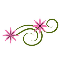 Cute flowers branches decoration vector