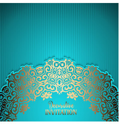 decorative invitation background vector image