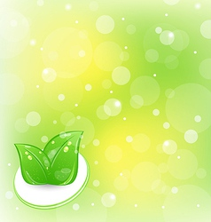 Ecology background with leaves vector