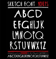 English handwriting alphabet figures vector