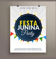 Festa junina poster design for party event vector