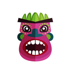 flat icon of zulu mask face with colorful vector image