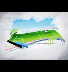 Football field graffiti vector