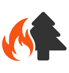 Forest fire flat icon vector