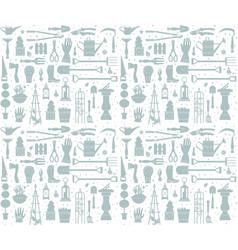 garden tool seamless pattern vector image