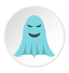 Ghost icon circle vector