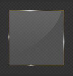 Glass gold transparent banner vector