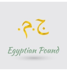 Golden Symbol og Egyptian Pound vector image