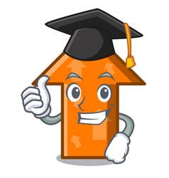Graduation arrow character cartoon style vector