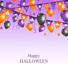 Halloween background with hanging bunting vector