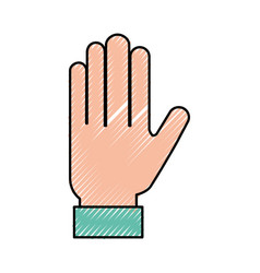 Human hand cartoon vector