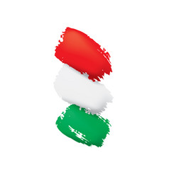 Hungary flag on a white vector