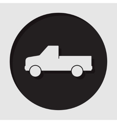 information icon - pickup with a flatbed vector image