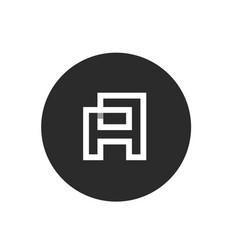 initial letter a minimalist monogram line art vector image