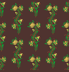 khokhloma seamless pattern traditional vector image
