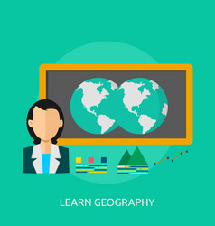 Learning geography conceptual design vector