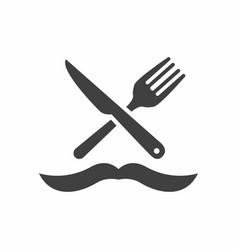 Man chef logo design template vector