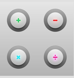 Math tech buttons vector
