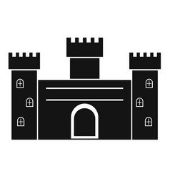 Medieval fortification icon simple style vector