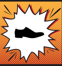 men shoes sign comics style icon on pop vector image