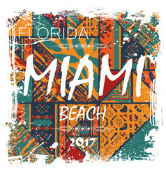 Miami beach background vector