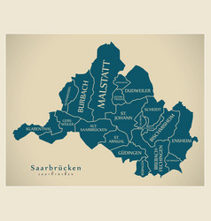 Modern city map - saarbrucken city of germany vector