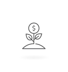 money growth icon vector image