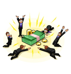 Money worship vector image