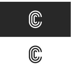 Monogram letter c logo ccc crest initials vector